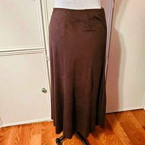 J. Jill Chocolate Brown Office Maxi Skirt